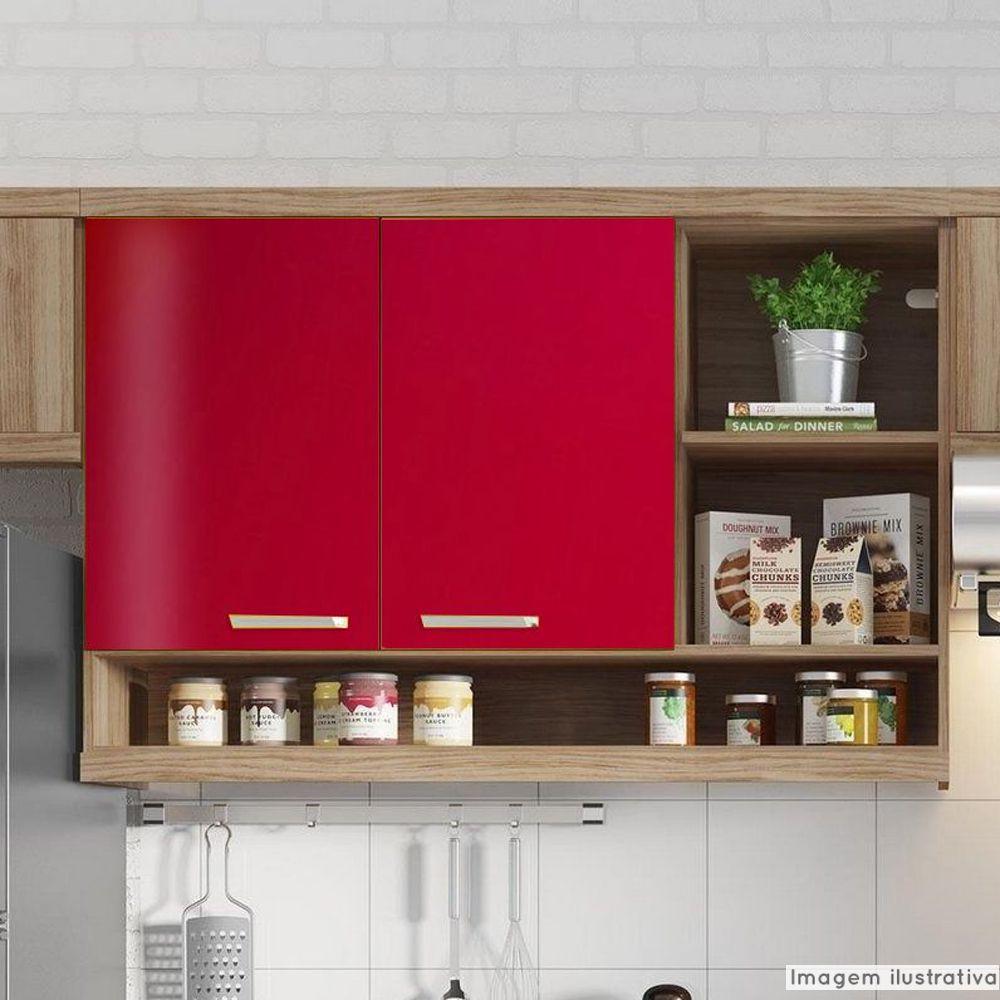 Outlet - Adesivo para móveis Brilhante Vermelho Radiante 0,61m  - TaColado