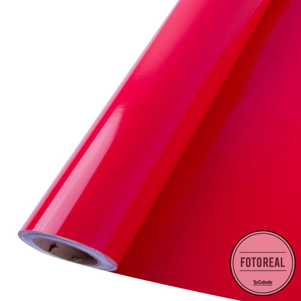 Adesivo para móveis Brilhante Vermelho Radiante 1,00m  - TaColado