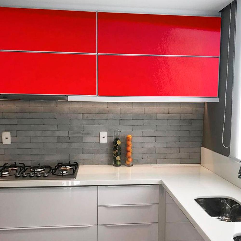 Adesivo para móveis Brilhante Vermelho Vivo 0,50m  - TaColado