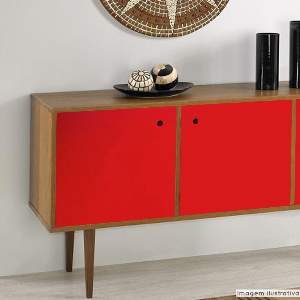 Adesivo para móveis Brilhante Vermelho Vivo 1,00m  - TaColado