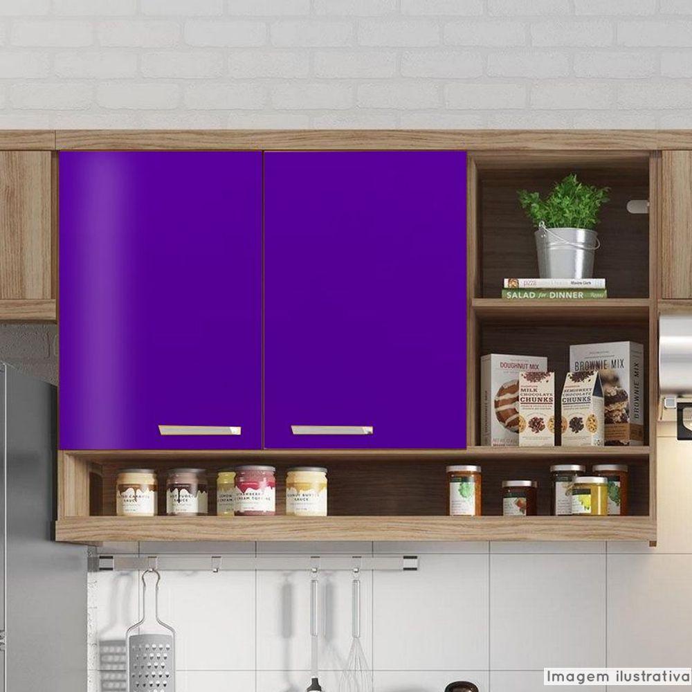 Adesivo para móveis Brilhante Violeta 1,00m  - TaColado