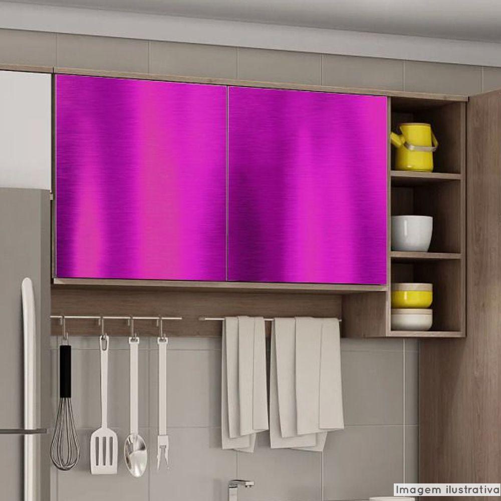 Adesivo para Móveis Cromado Rosa 1,22m  - TaColado