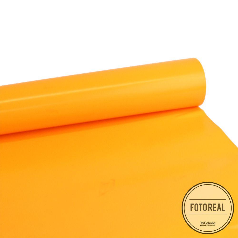 Adesivo para móveis Fluorescente Laranja 1,00m  - TaColado