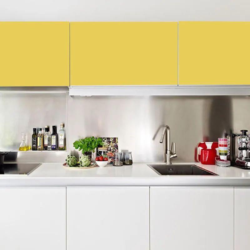 Adesivo para móveis Fosco Amarelo Gengibre 0,61m  - TaColado