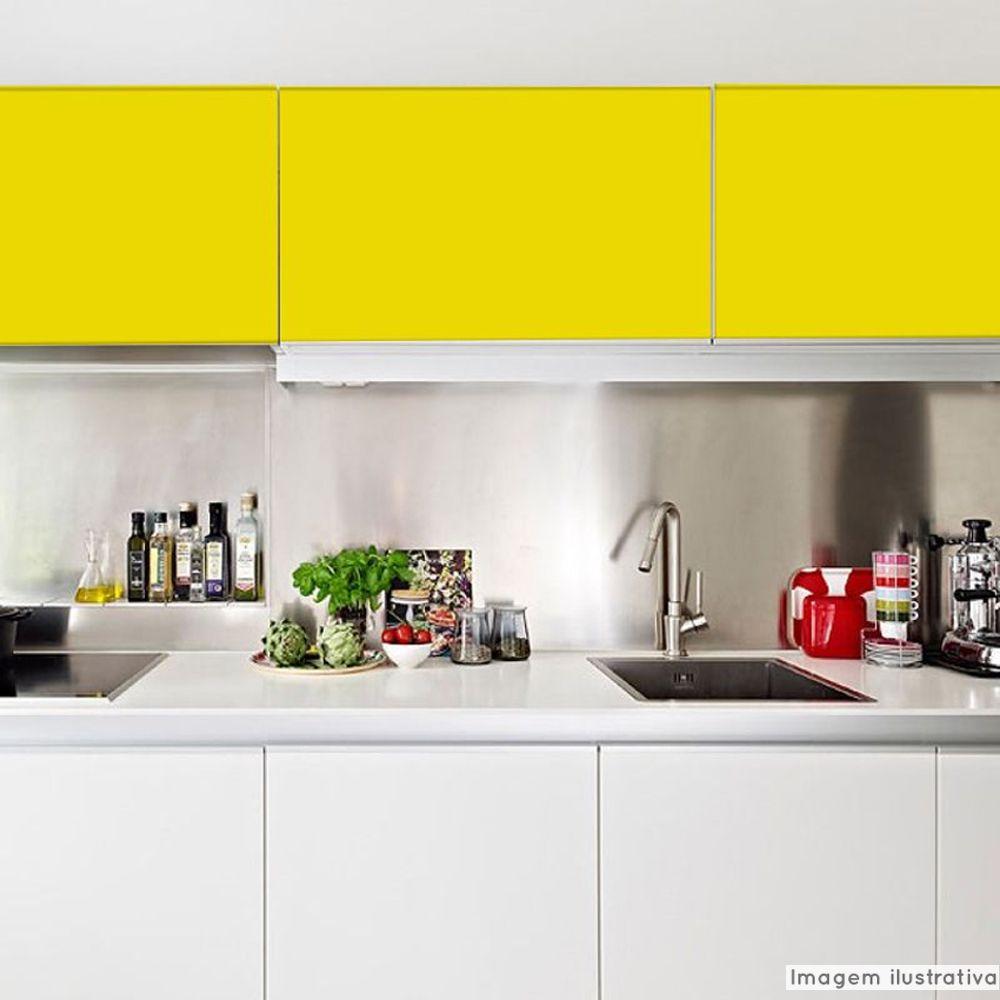 Adesivo para móveis Fosco Amarelo Médio 0,50m  - TaColado
