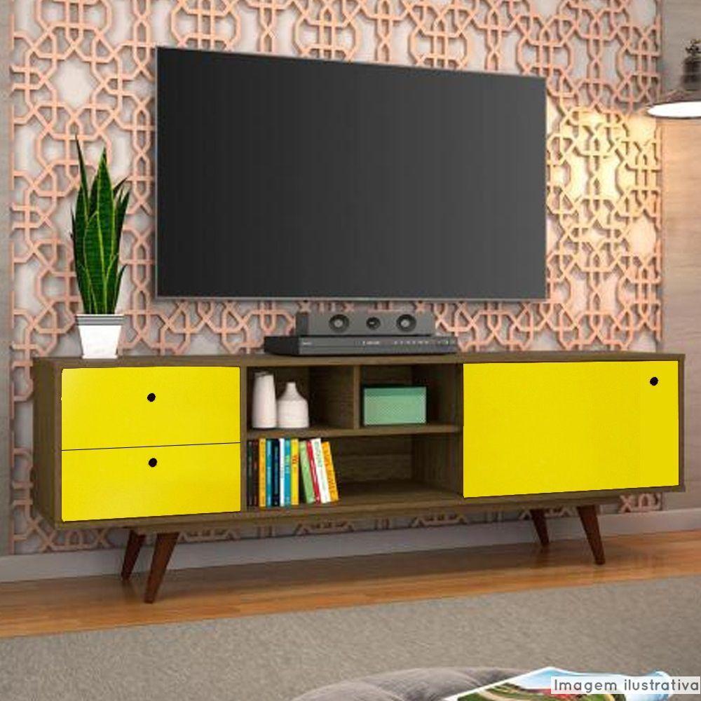 Adesivo para móveis Fosco Amarelo Médio 1,00m  - TaColado