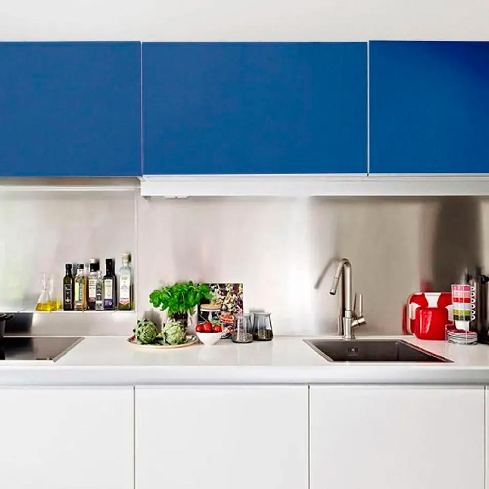Adesivo para móveis Fosco Azul Indigo 1,00m  - TaColado