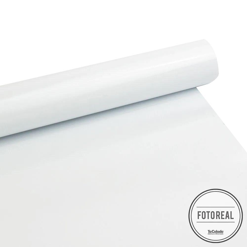 Adesivo para móveis Fosco Branco Bloqueador 0,61m  - TaColado