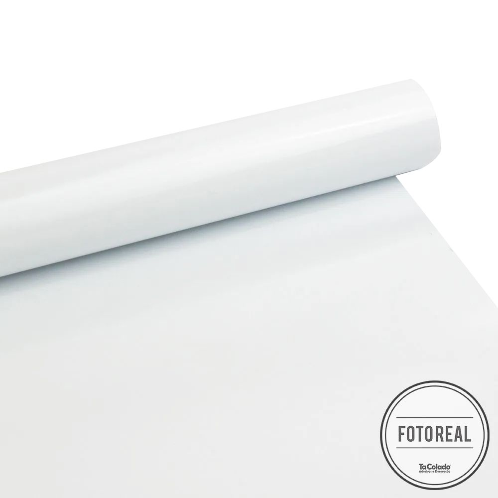 Adesivo para móveis Fosco Branco Bloqueador 1,27m  - TaColado
