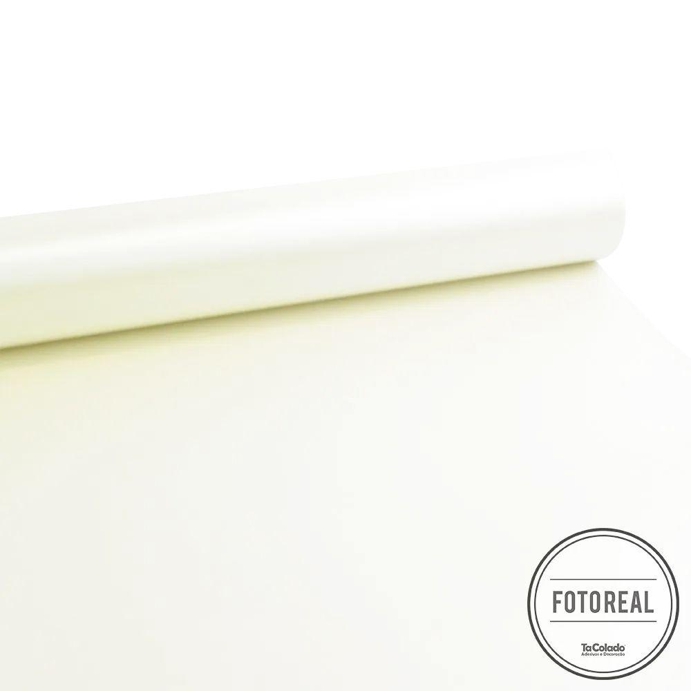 Adesivo para móveis Fosco Branco Pérola 0,61m  - TaColado