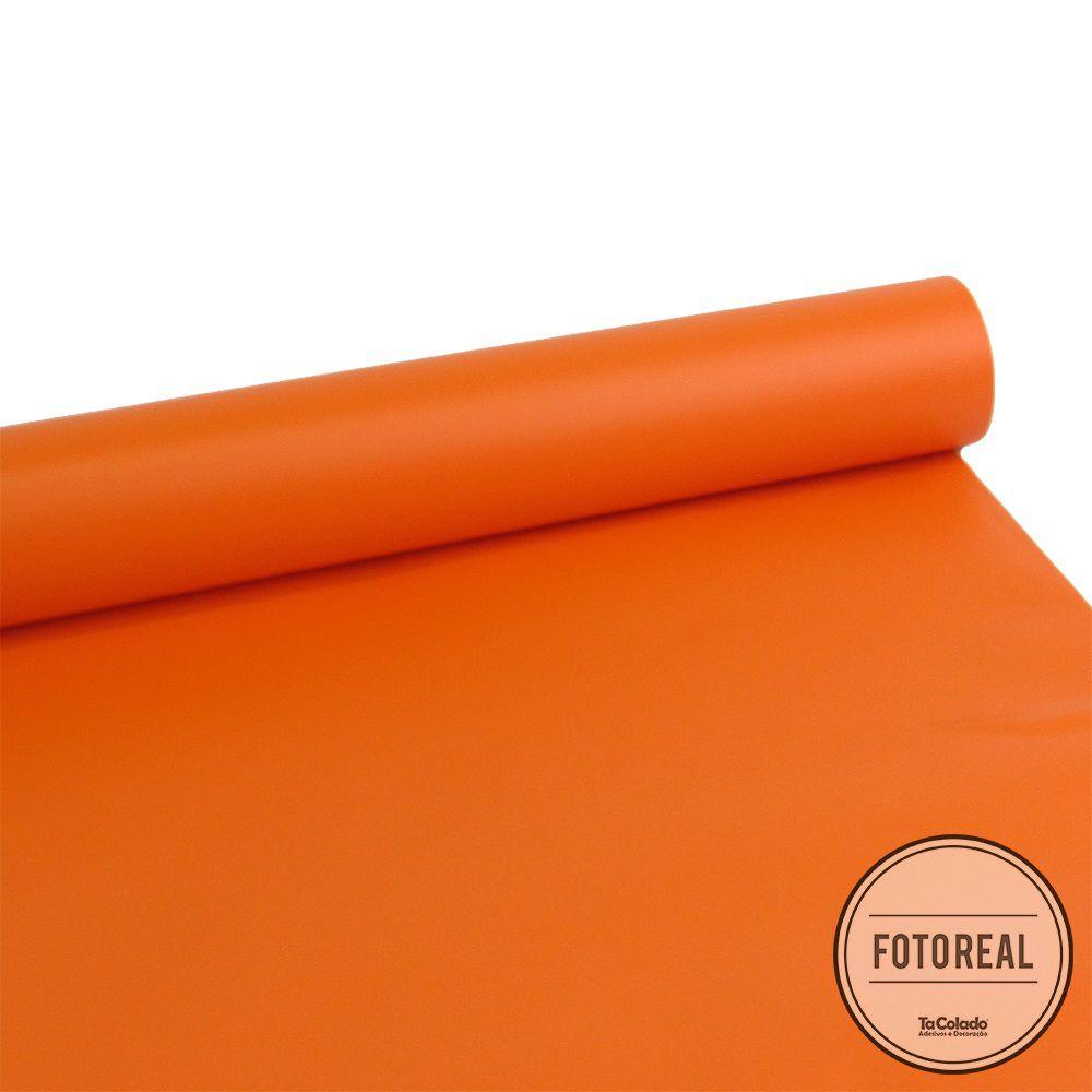 Adesivo para móveis Fosco Laranja 0,61m  - TaColado