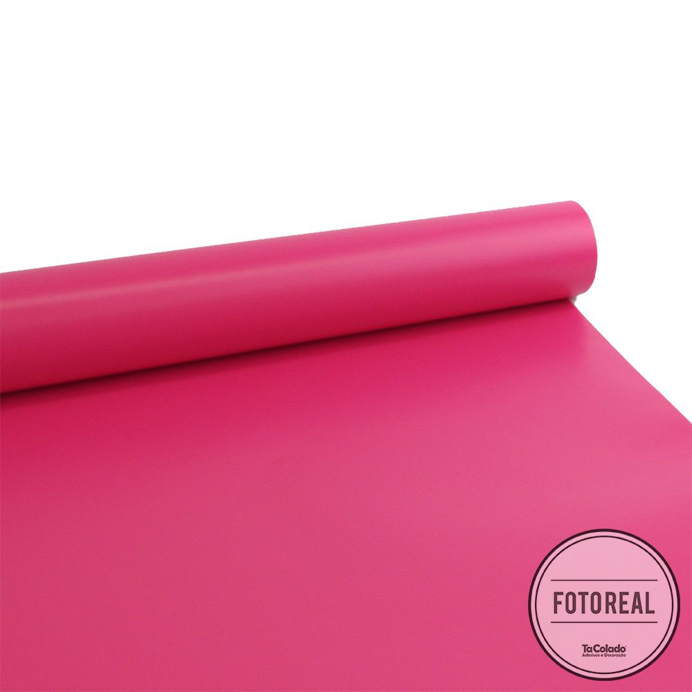Adesivo para móveis Fosco Magenta 0,61m  - TaColado