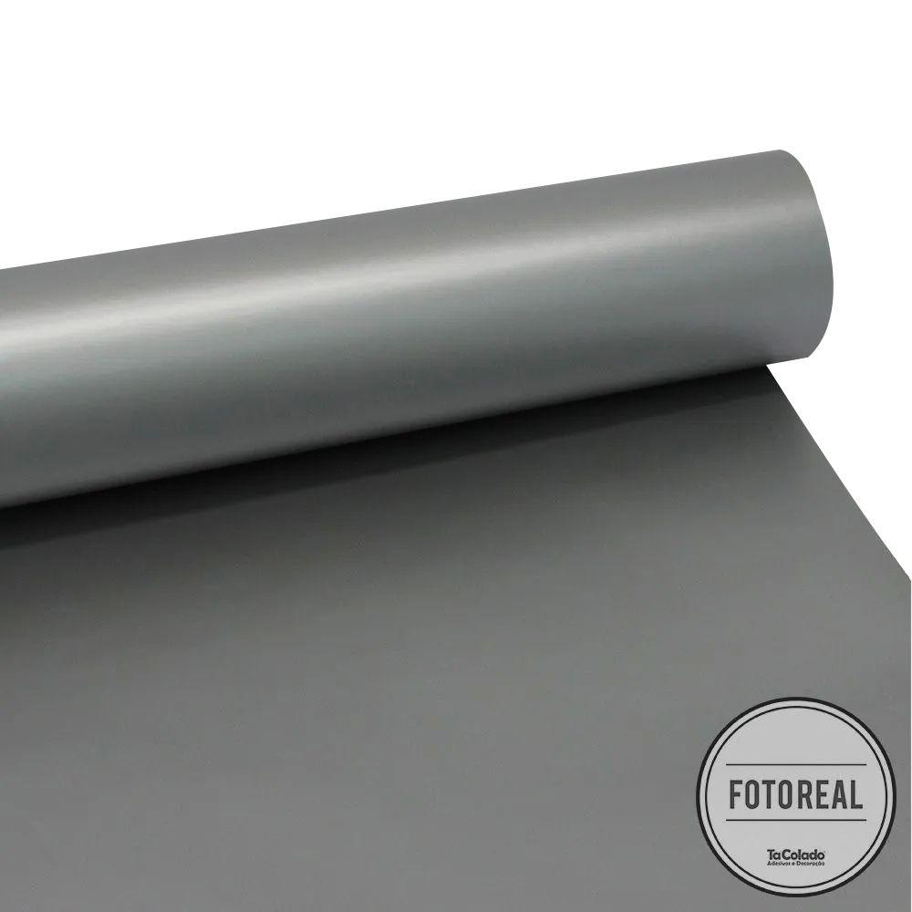 Adesivo para móveis Fosco Prata 0,61m  - TaColado
