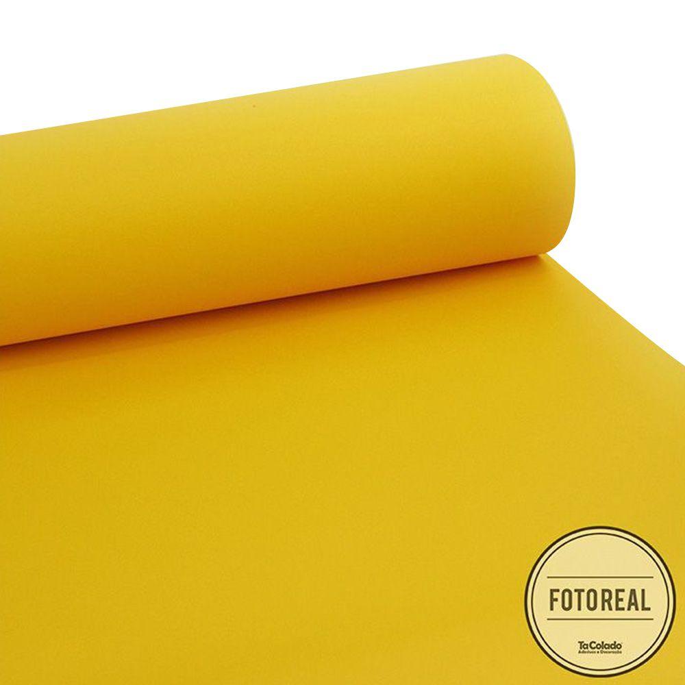 Adesivo para móveis Jateado Amarelo Taubaté 0,61m  - TaColado