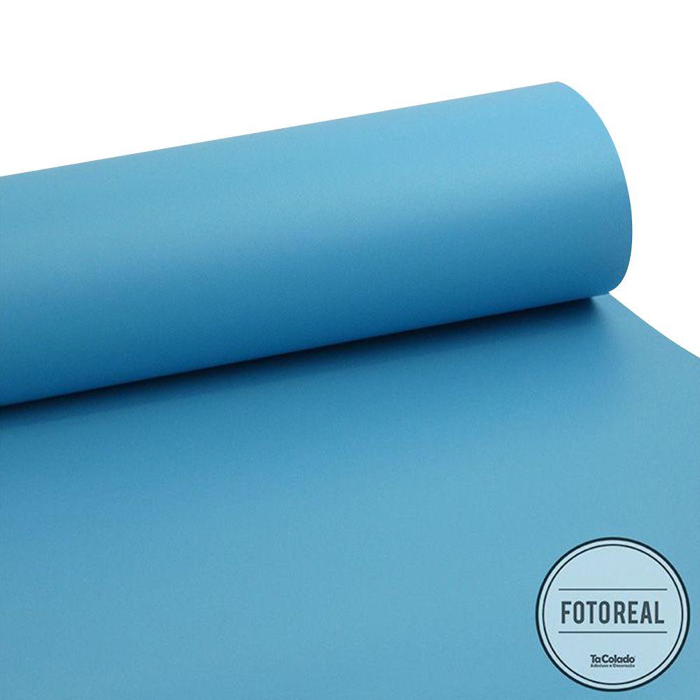 Adesivo para móveis Jateado Azul Maragogi 0,61m  - TaColado