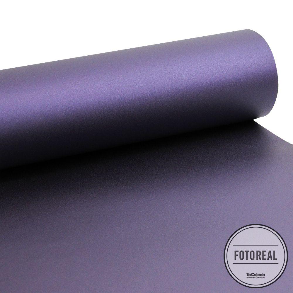 Adesivo para móveis Jateado Púrpura Metálico 0,61m  - TaColado