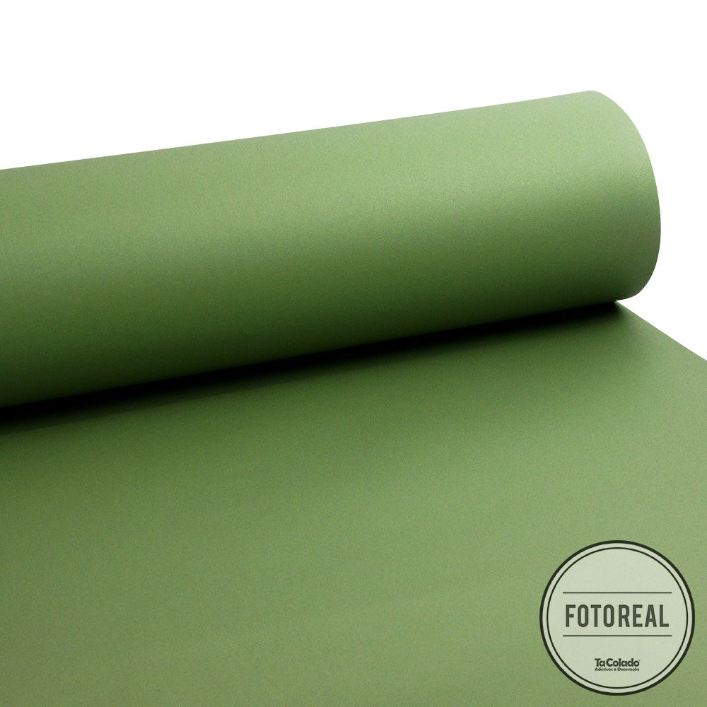 Adesivo para móveis Jateado Verde Oliva 0,61m  - TaColado