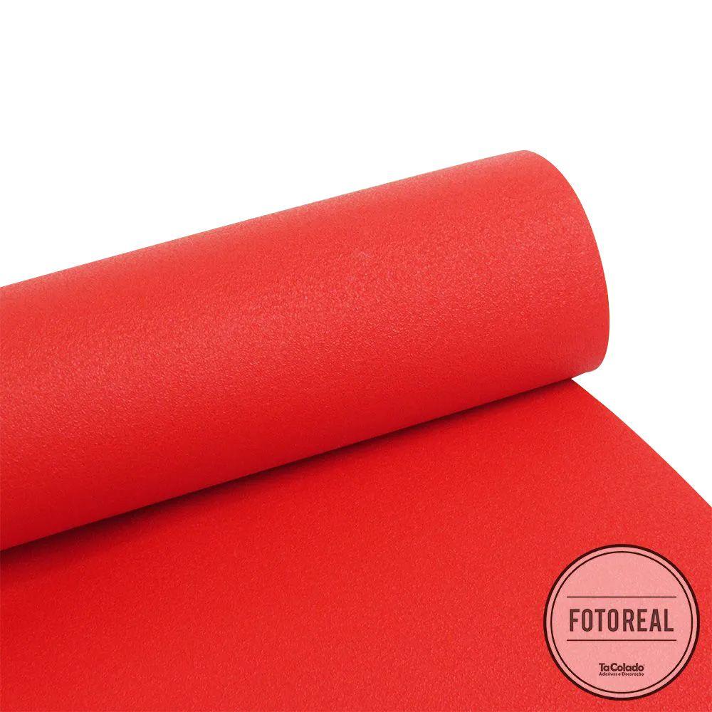 Adesivo para móveis Rústico Vermelho 0,61m  - TaColado