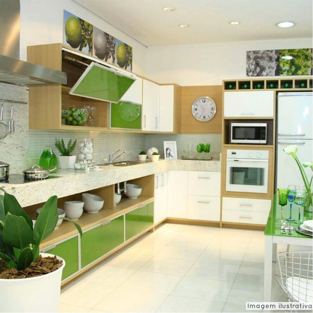 Adesivo para móveis Laca Alto Brilho Apple Green 0,61m  - TaColado