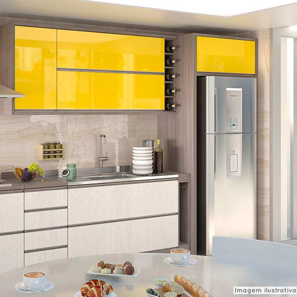 Adesivo para móveis Laca Alto Brilho Banana Yellow 0,61m  - TaColado