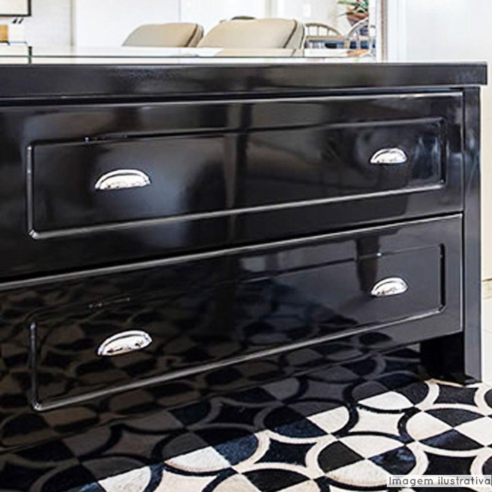 Adesivo para móveis Laca Alto Brilho Black Piano 0,61m  - TaColado