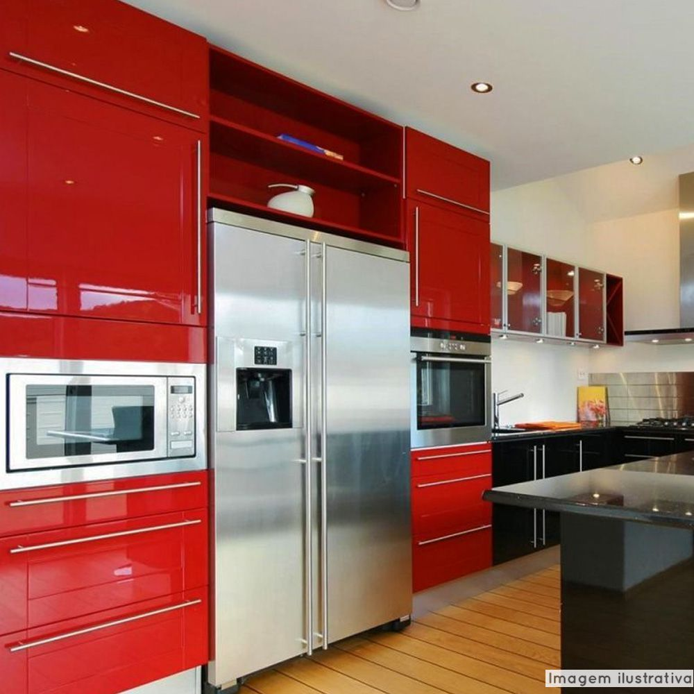 Adesivo para móveis Laca Alto Brilho Blood Red 0,61m  - TaColado