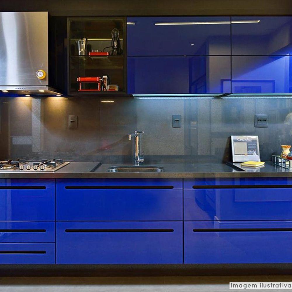 Adesivo para móveis Laca Alto Brilho Blue Mystique 0,61m  - TaColado