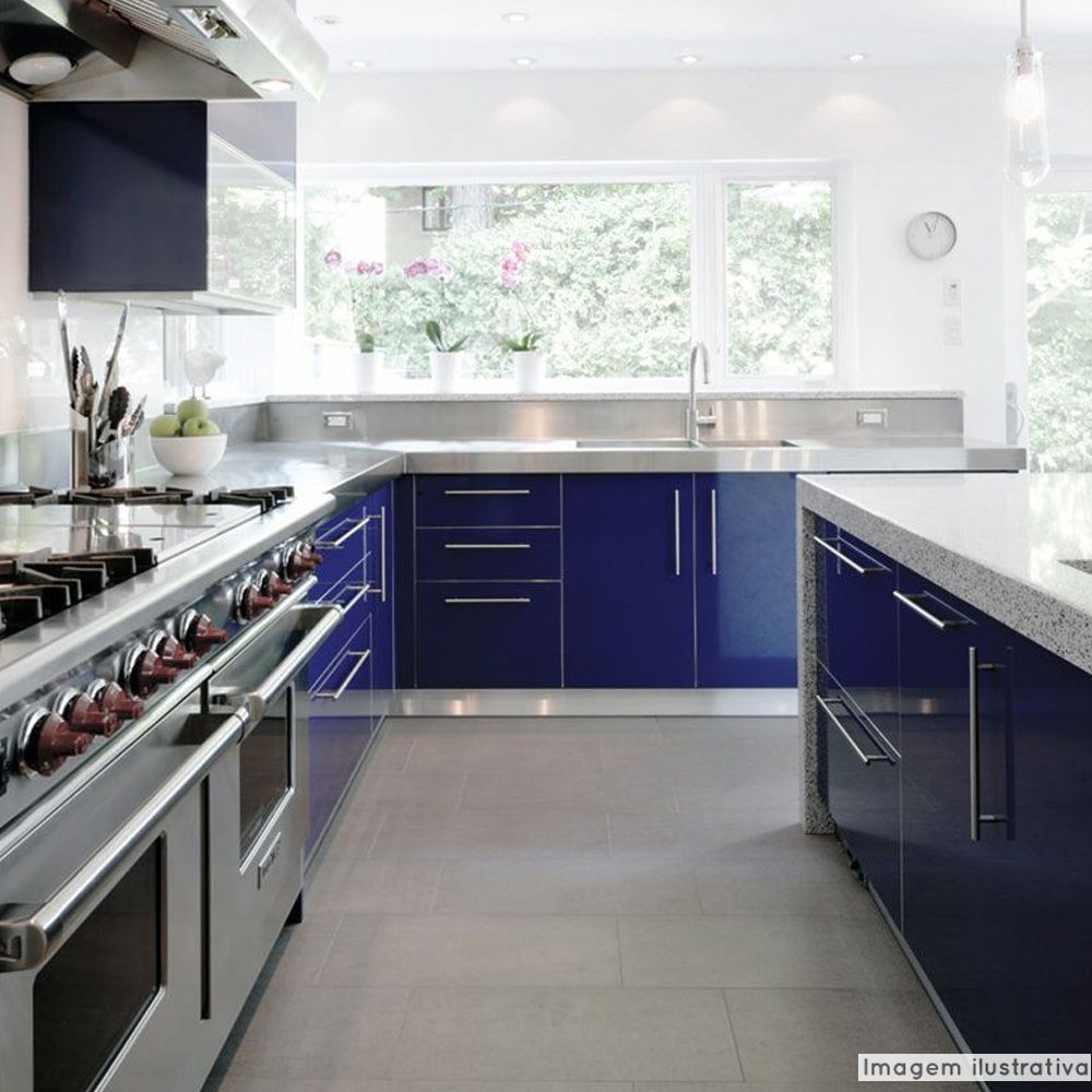 Adesivo para móveis Laca Alto Brilho Deep Blue Metallic 0,61m  - TaColado