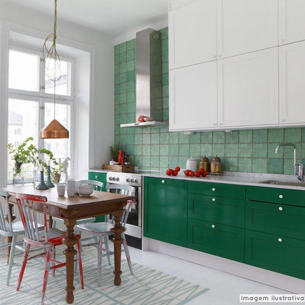 Adesivo para móveis Laca Alto Brilho Green Metallic 0,61m  - TaColado
