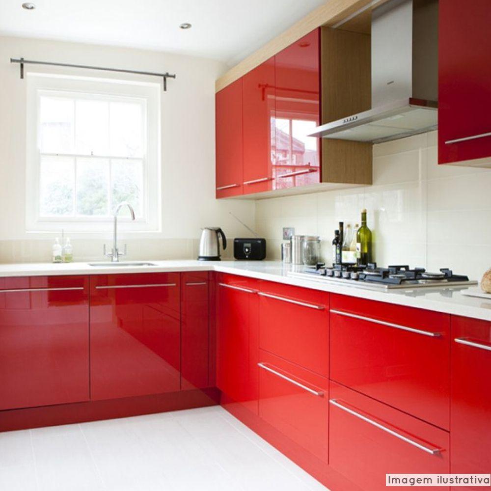 Adesivo para móveis Laca Alto Brilho Spicy Red 0,61m  - TaColado