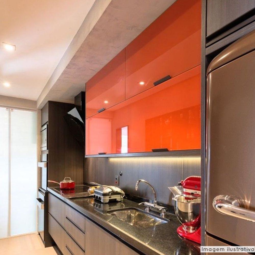 Adesivo para Móveis Laca Alto Brilho Sunrise Tangerin 0,61m  - TaColado
