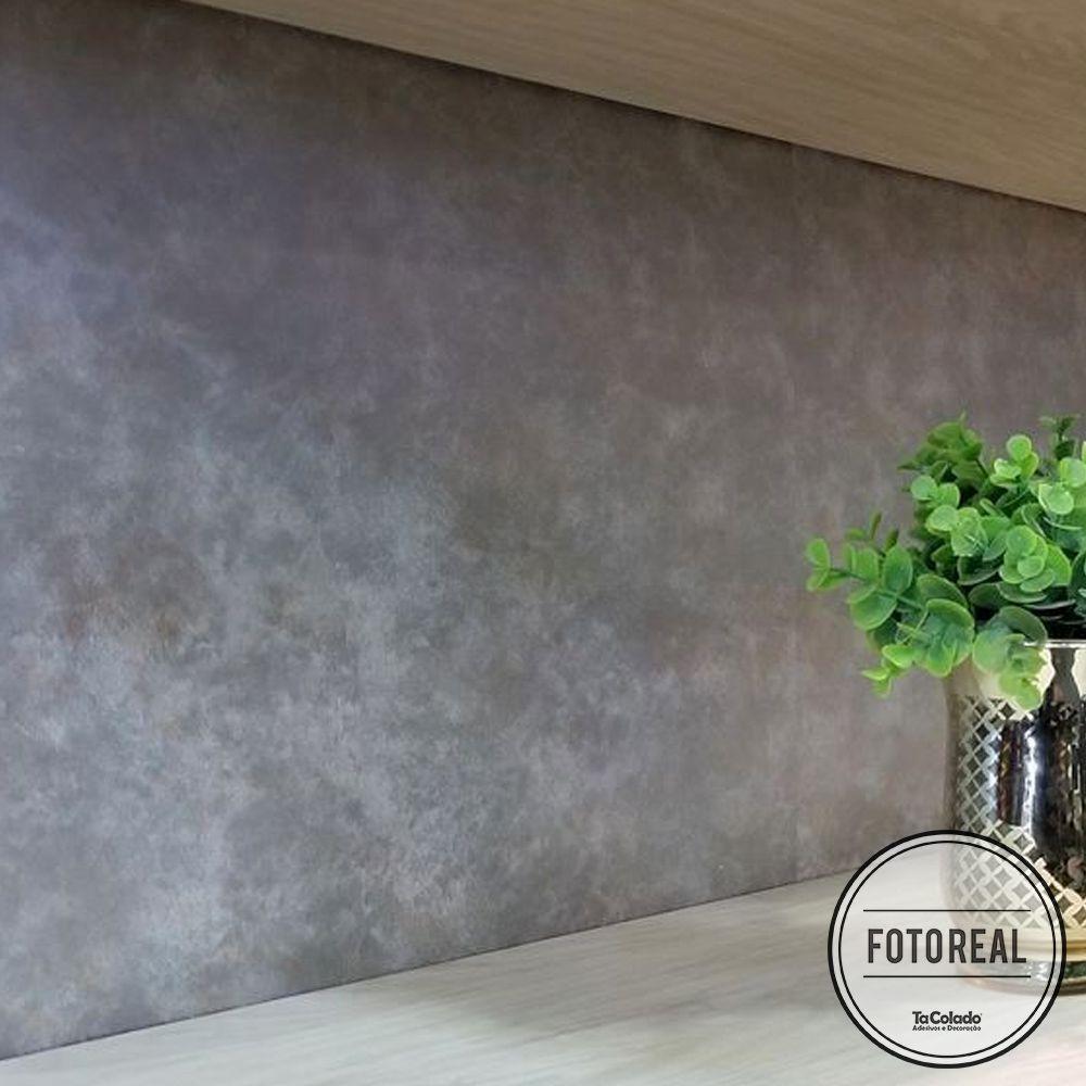 Adesivo para móveis Metal Corten Grafite Oxido 0,61m  - TaColado