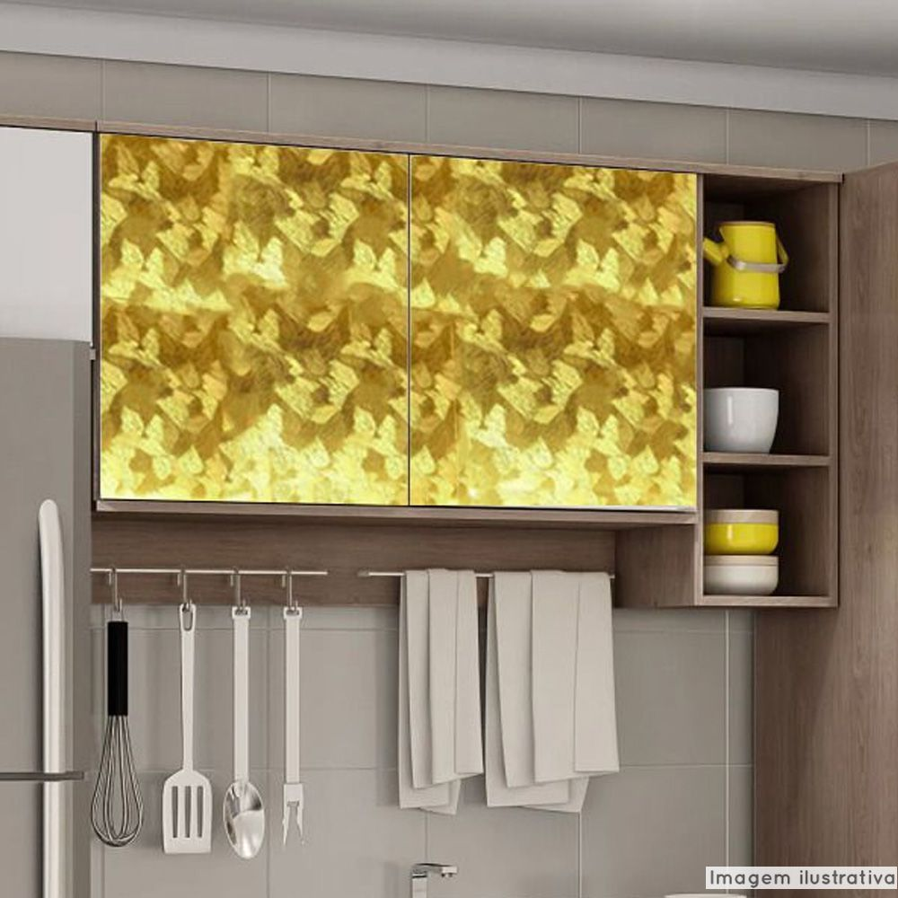Adesivo para móveis Metallic Artístico Ouro 0,53m  - TaColado