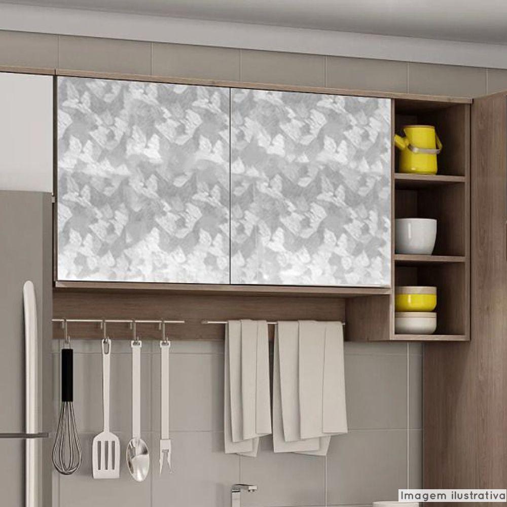 Adesivo para móveis Metallic Artístico Prata 0,53m  - TaColado