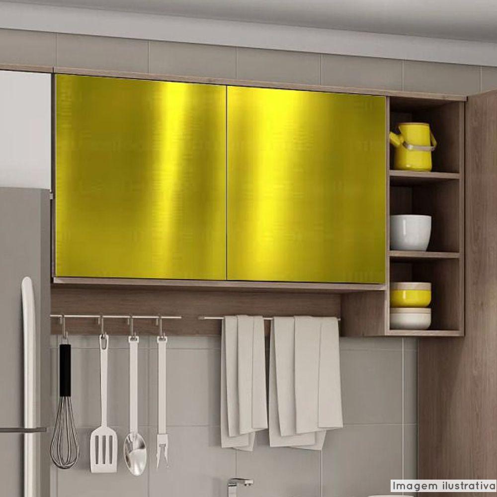 Adesivo para móveis Metallic Liso Ouro 1,06m  - TaColado