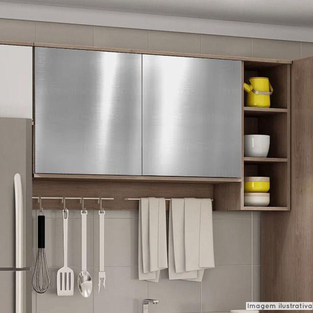 Adesivo para Móveis Metallic Liso Prata 1,06m  - TaColado