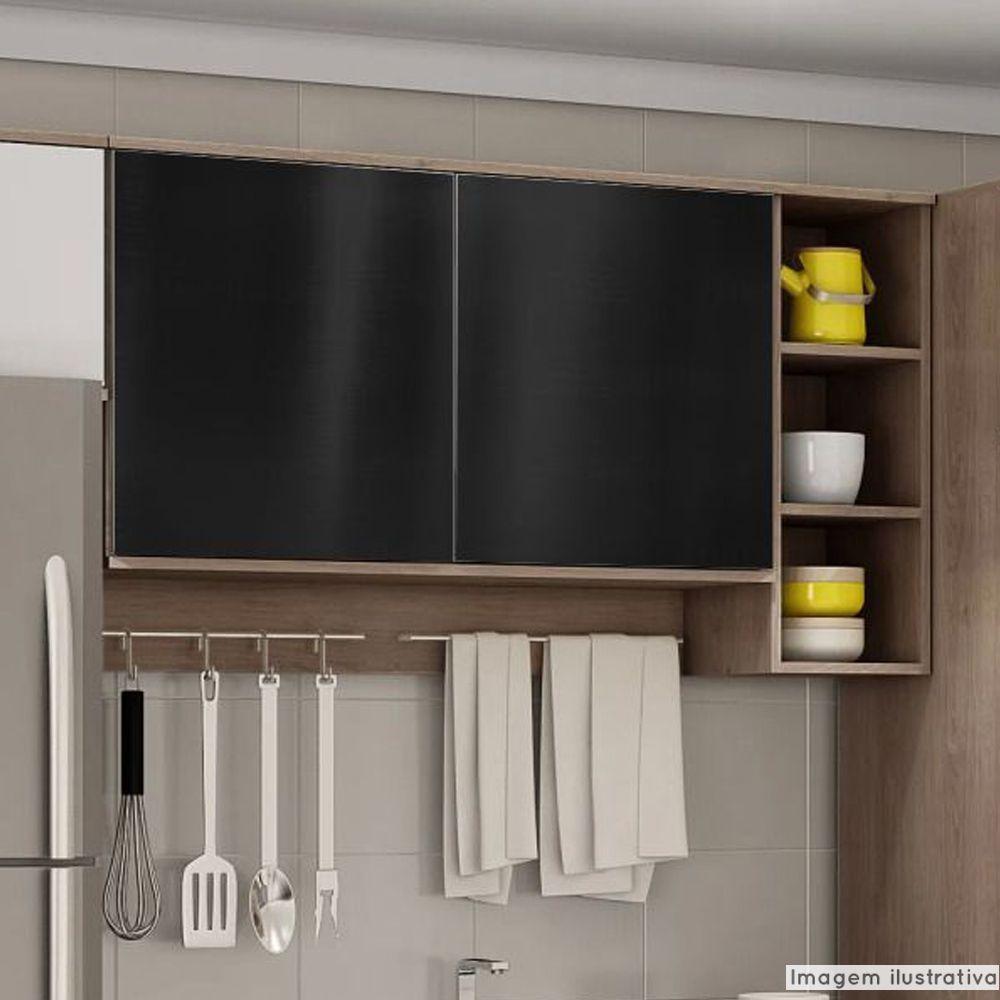 Adesivo para móveis Metallic Liso Preto 0,53m  - TaColado