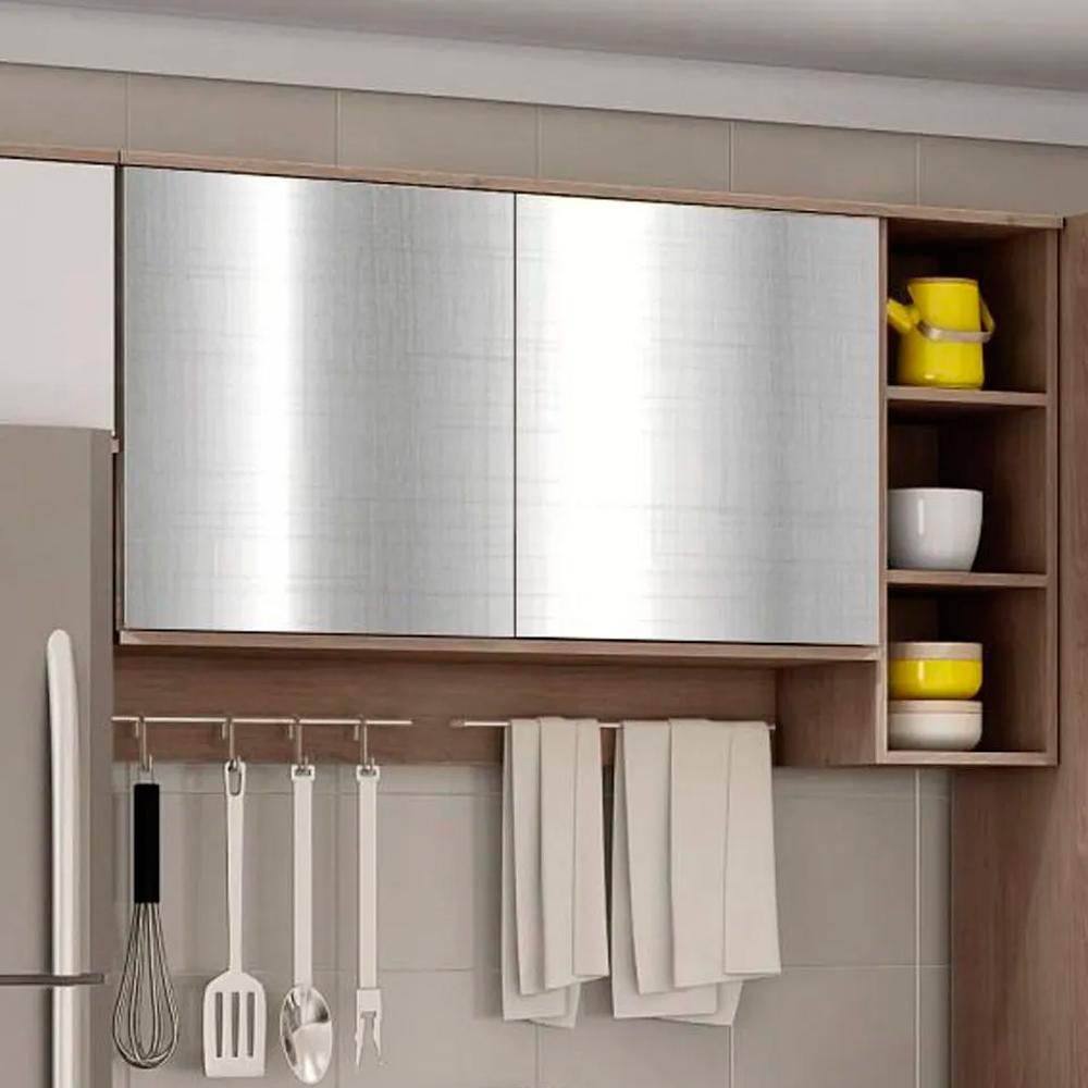Adesivo para Móveis Metallic Telado Prata 1,06m  - TaColado
