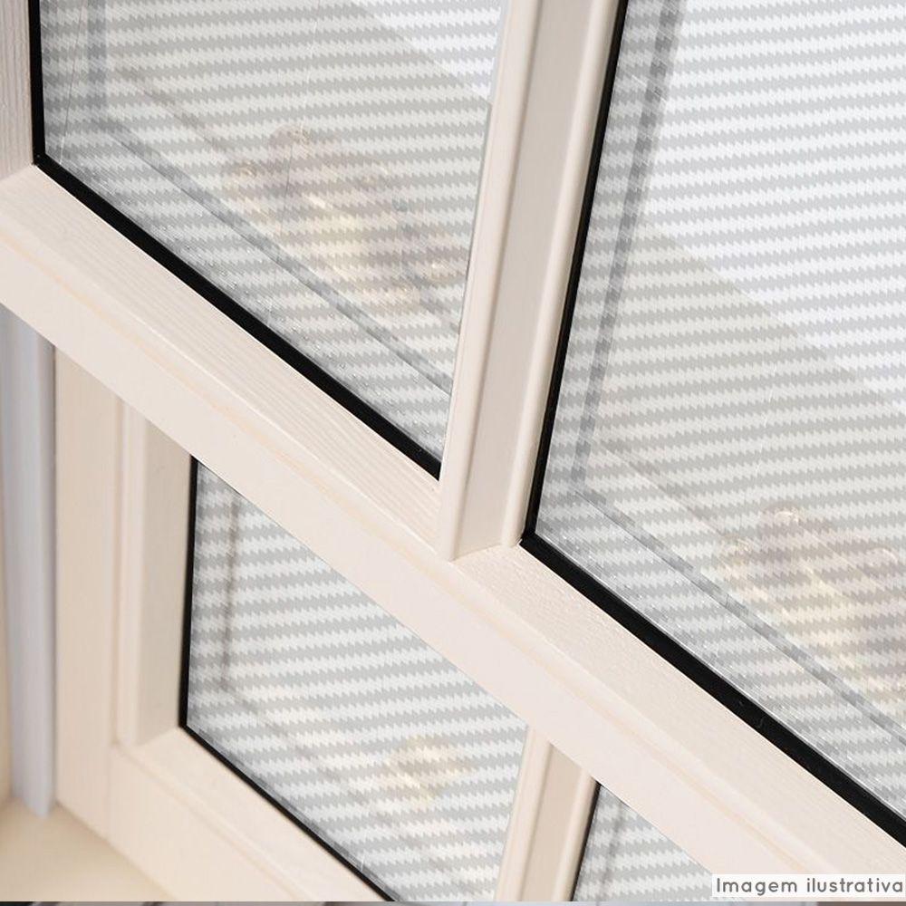 Adesivo Para Vidro Box Banheiro Jateado Cristal Carbono 0,61m Prova D