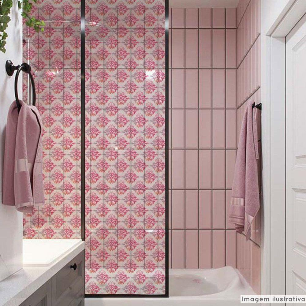 Adesivo Para Vidro Box Banheiro Jateado Decorado Arabesco Prova D