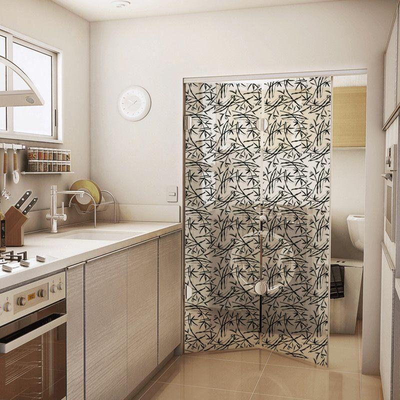 Queima de Estoque - Adesivo Para Vidro Box Banheiro Jateado Decorado Japanese prova d