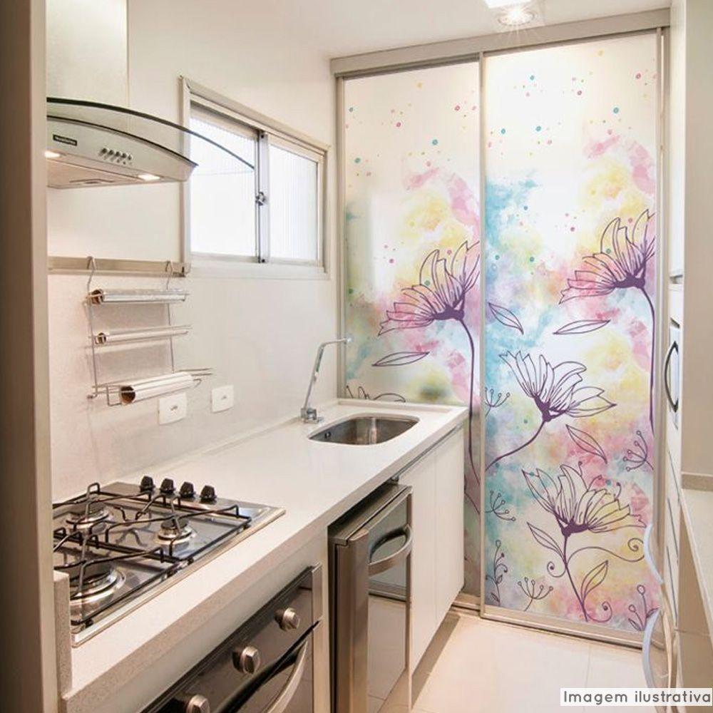 Adesivo Para Vidro Box Banheiro Jateado Decorado Jardim Prova D