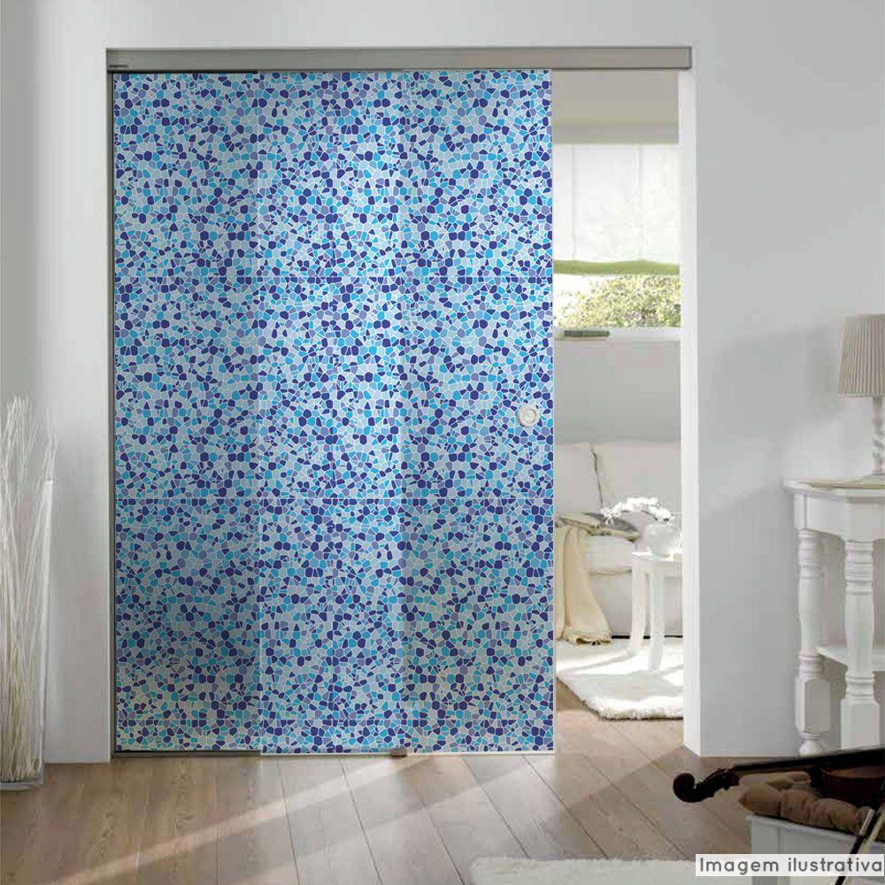 Adesivo Para Vidro Box Banheiro Jateado Decorado Ladrilho Prova D