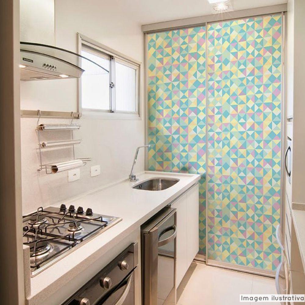Adesivo Para Vidro Box Banheiro Jateado Decorado Retângulo Prova D