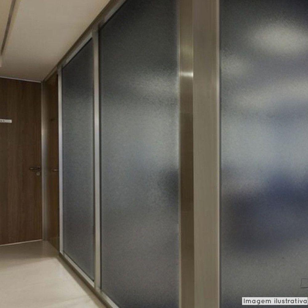 Adesivo Para Vidro Box Banheiro Jateado Fume 0,61m Prova D