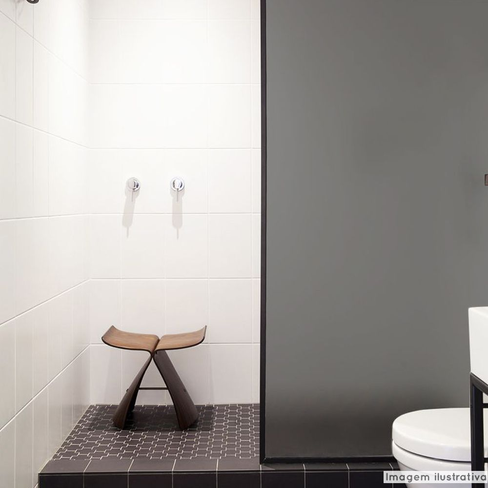 Adesivo Para Vidro Box Banheiro Jateado Fume 1,22m  - TaColado