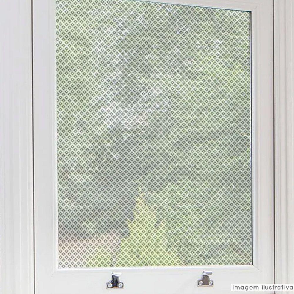 Adesivo Para Vidro Box Banheiro Jateado Losango 0,61m Prova D