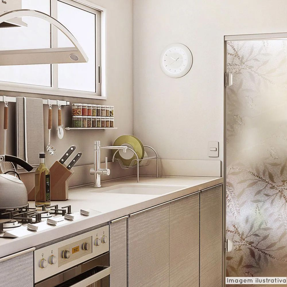 Adesivo Para Vidro Box Banheiro Jateado Luxor 0,61m Prova D