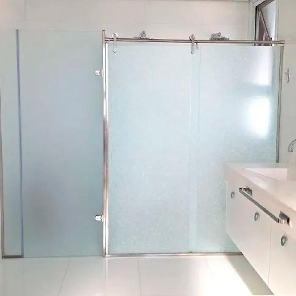 Adesivo Para Vidro Box Banheiro Jateado Metalizado 0,61m Prova D