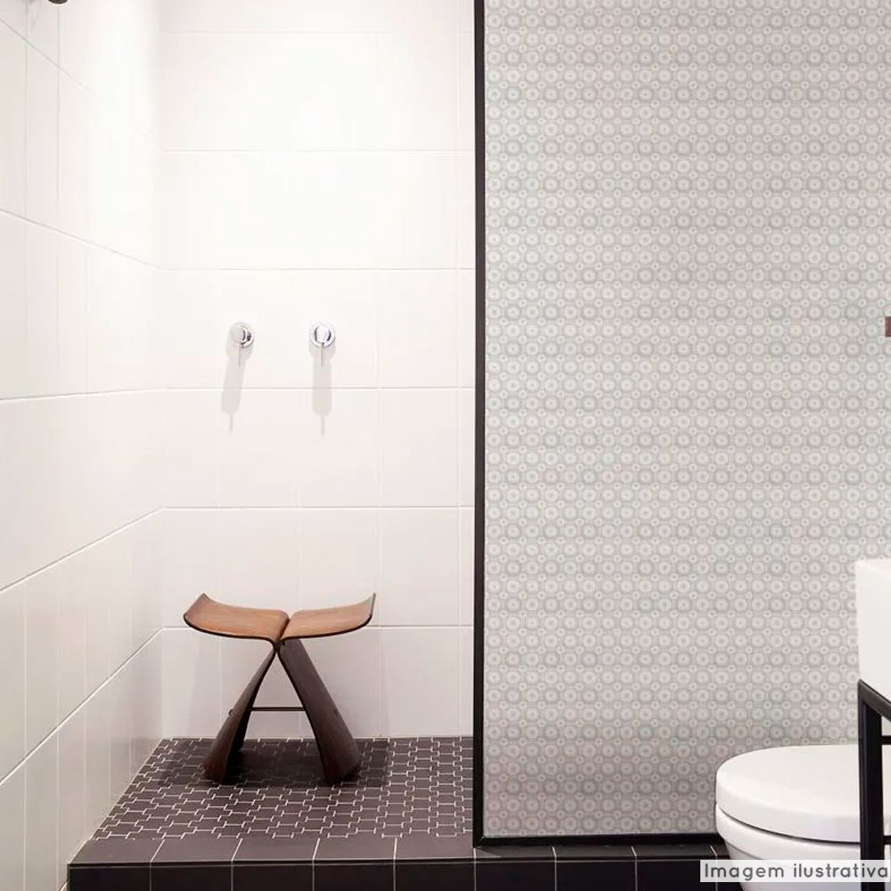 Adesivo Para Vidro Box Banheiro Jateado Micro Esferas 0,61m Prova D